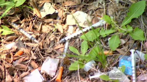 Improperly Discarded Intravenous Needles