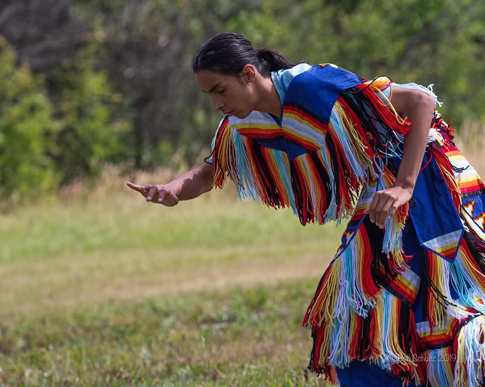 Anthony Getz mesmerized the crowd with his authentic pow wow dance - Photo by Bob Schultz