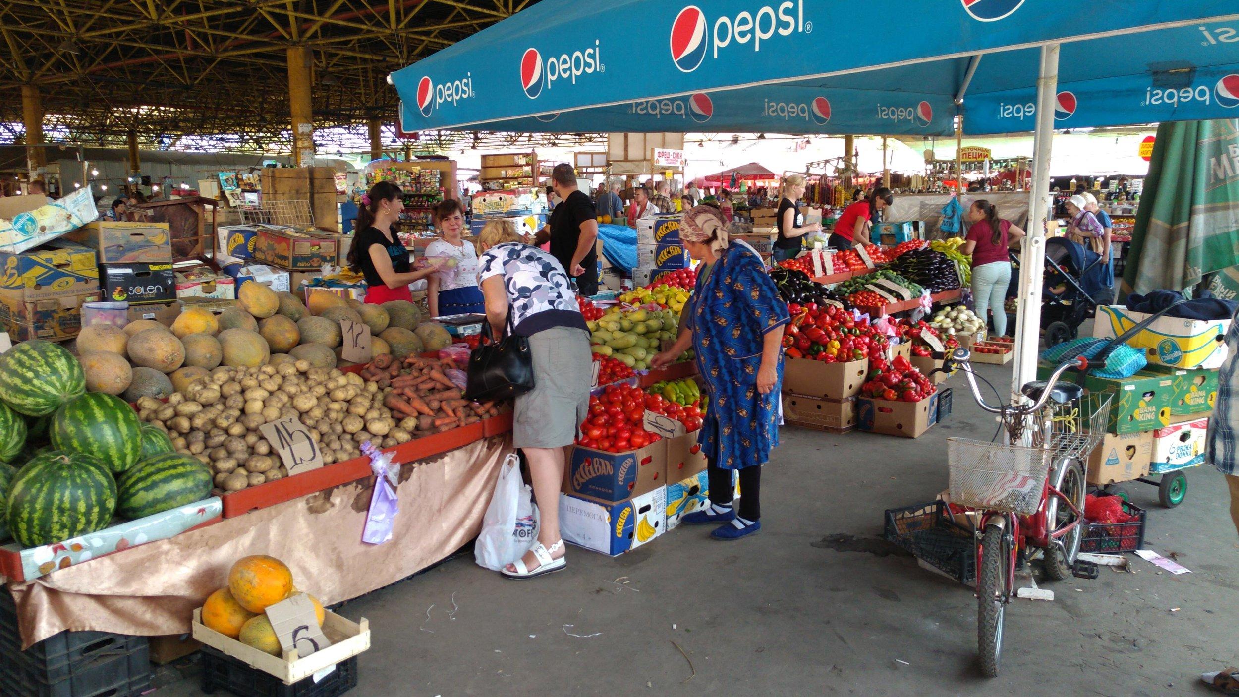 Despite economic problems the local markets are busy