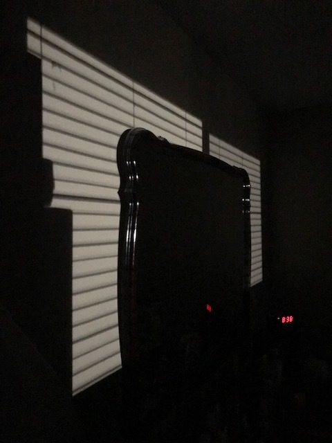 The light shining into a bedroom - submitted