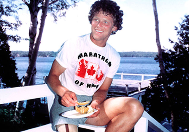Terry Fox Stops During His 1980 Run - submitted photo