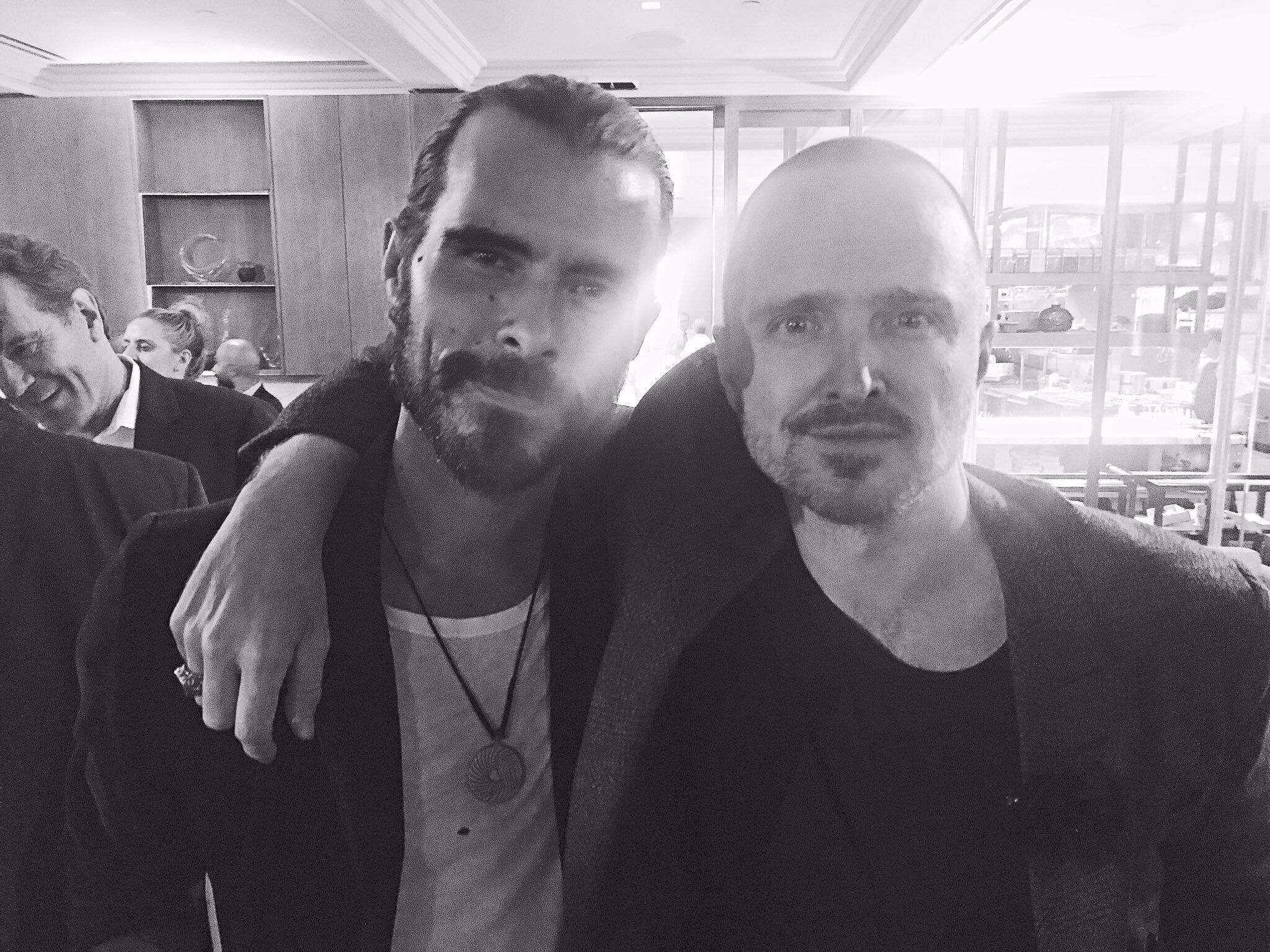 Reuben with Aaron Paul (Jesse Pinkman) at the Red Carpet event for El Camino - submitted photo
