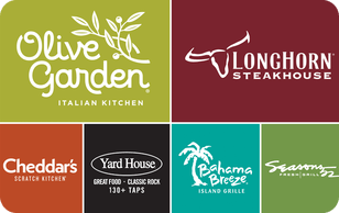 $25 gift card to a Darden restaurant of your choice -