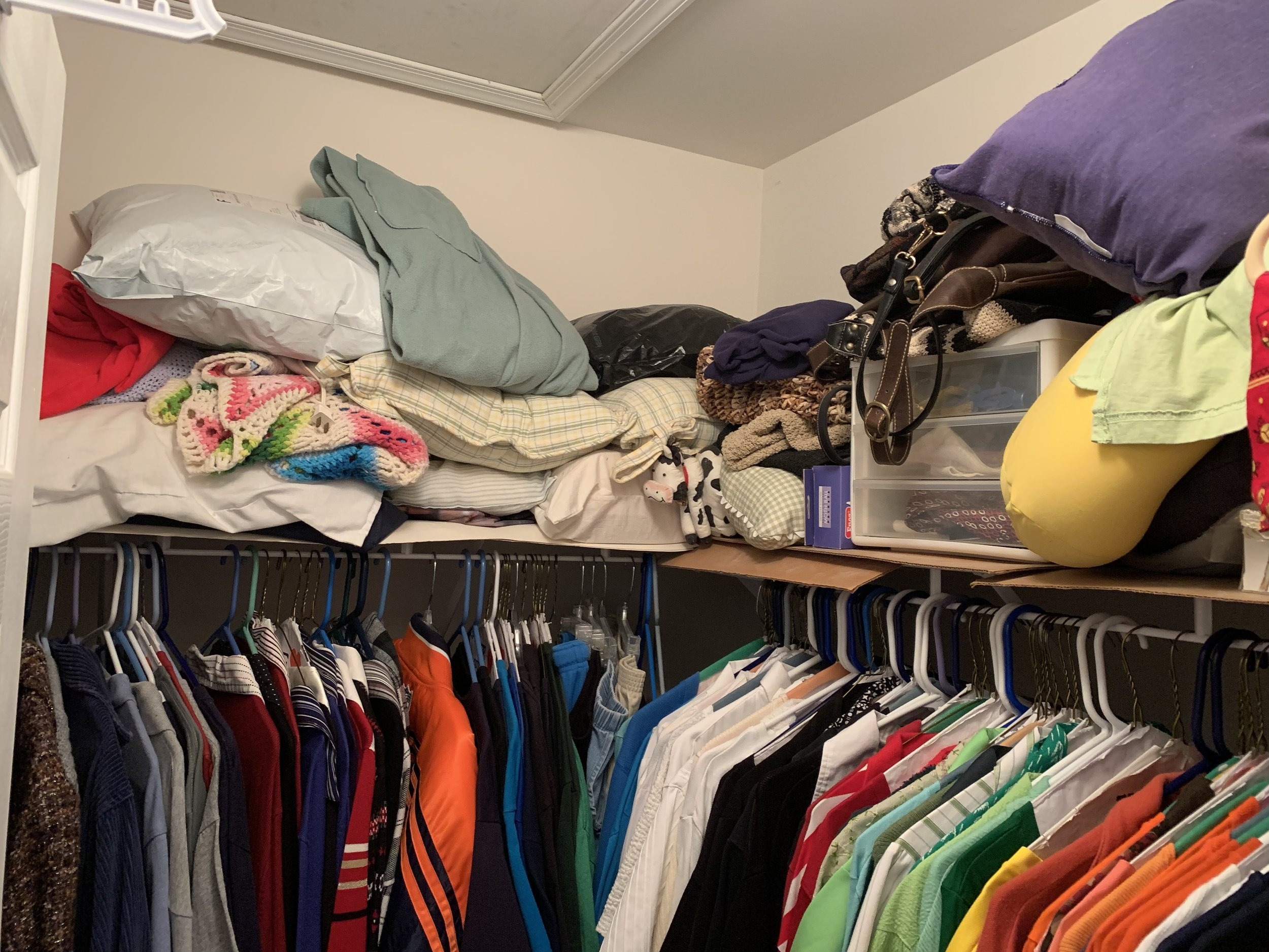 Cloth Rack Top Unorganized