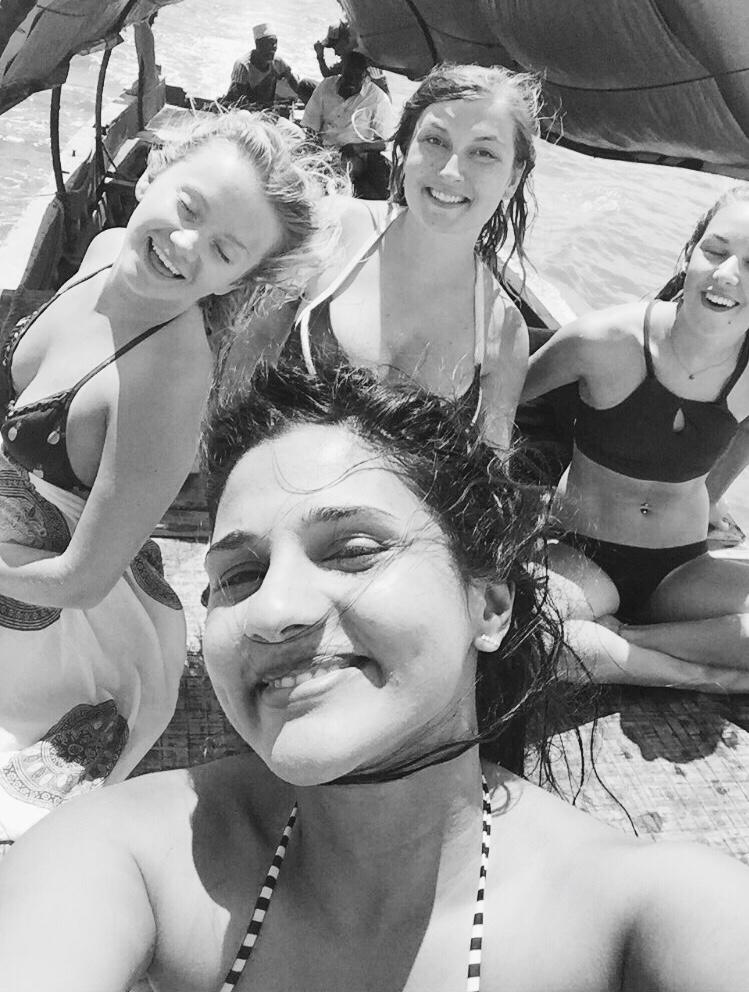 Jenny, Diane, Georgina and I (missing Jordan in this picture!)Zanzibar,August 2017. #feelingtwentytwo
