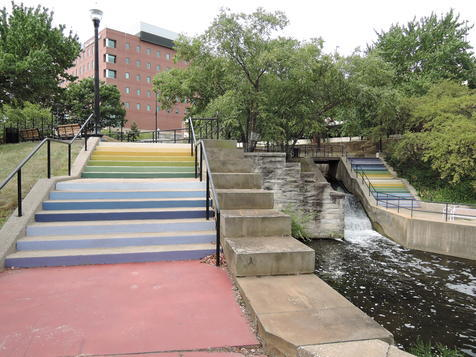 Hazel Tree's functional and beautiful community space design at Lock 2 in downtown Akron.