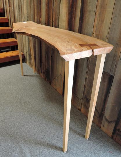 Organic spalted maple side table created by  David Walter