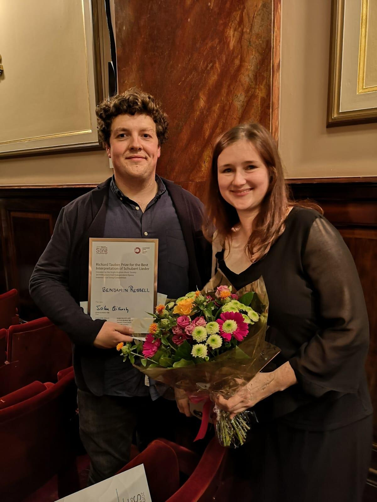 Manon and Benjamin at the Prize Ceremony - 11th Sep 2019