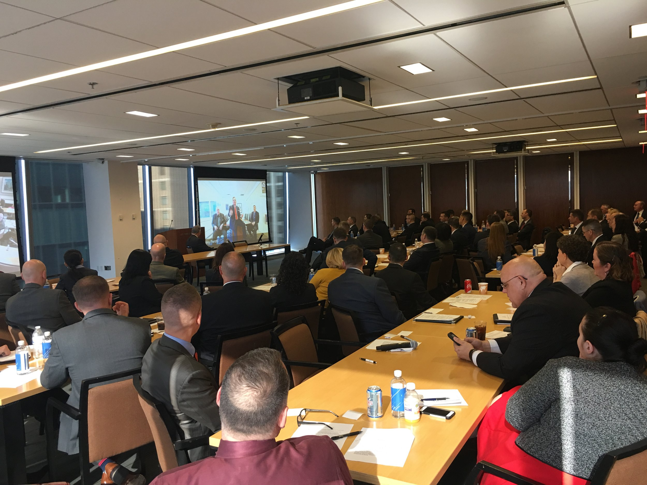 Nearly 80 participants attend the Jobs for JAGs seminar at Jenner & Block's Washington, DC office.