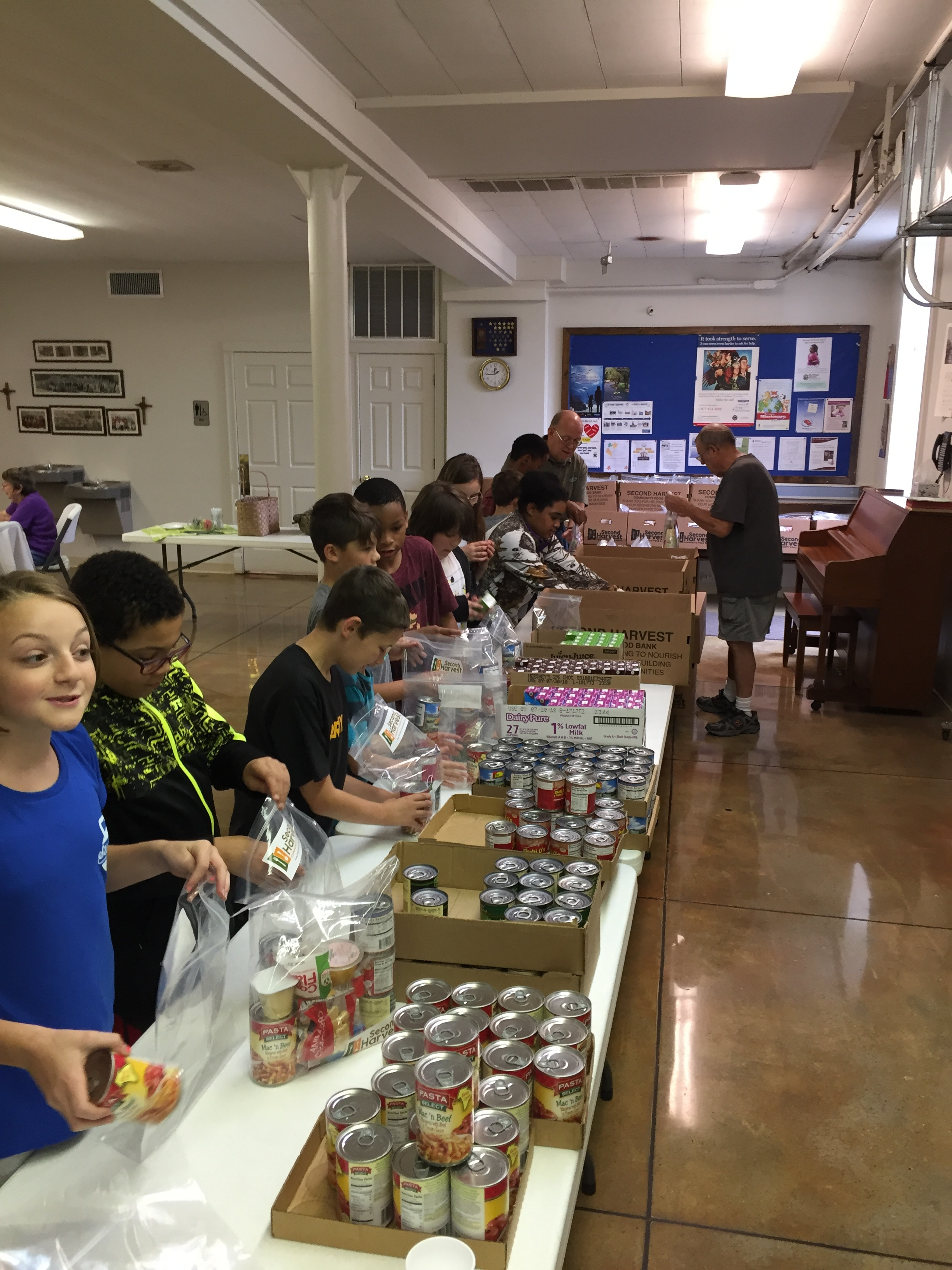 Our Goal - Our goal is to act as the link between community organizations and individuals who want to help hungry elementary school children in our schools. Through financial donations we purchase food from Second Harvest Community Food Banks. Volunteers then sort, pack and deliver a backpack of food to hungry children each weekend through their respective schools.