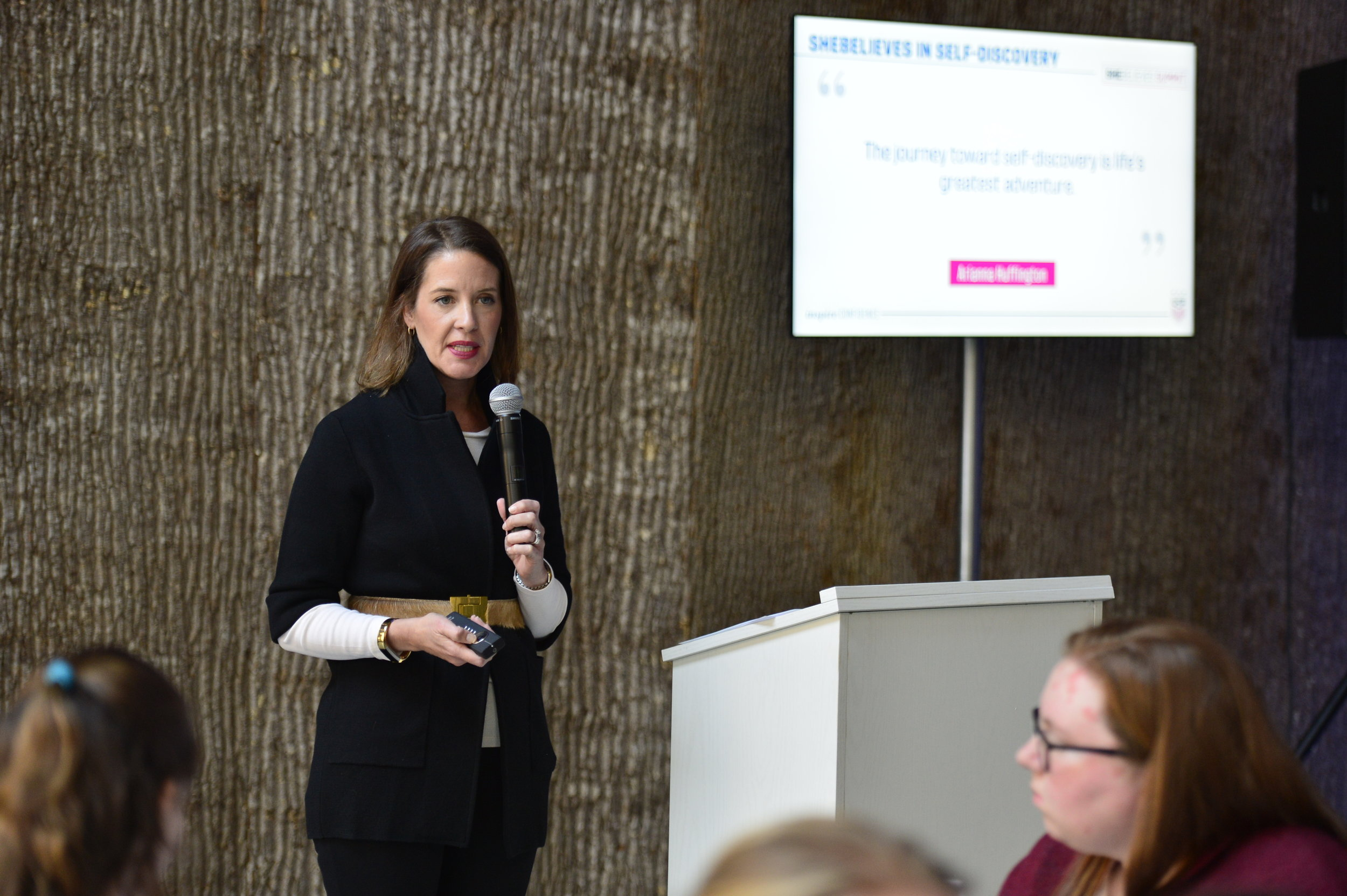 Holly Lindvall, VP of Human Resources and Diversity at NY Mets,speaks about goal setting and mapping in the SheBelieves in Her Abilities breakout session.