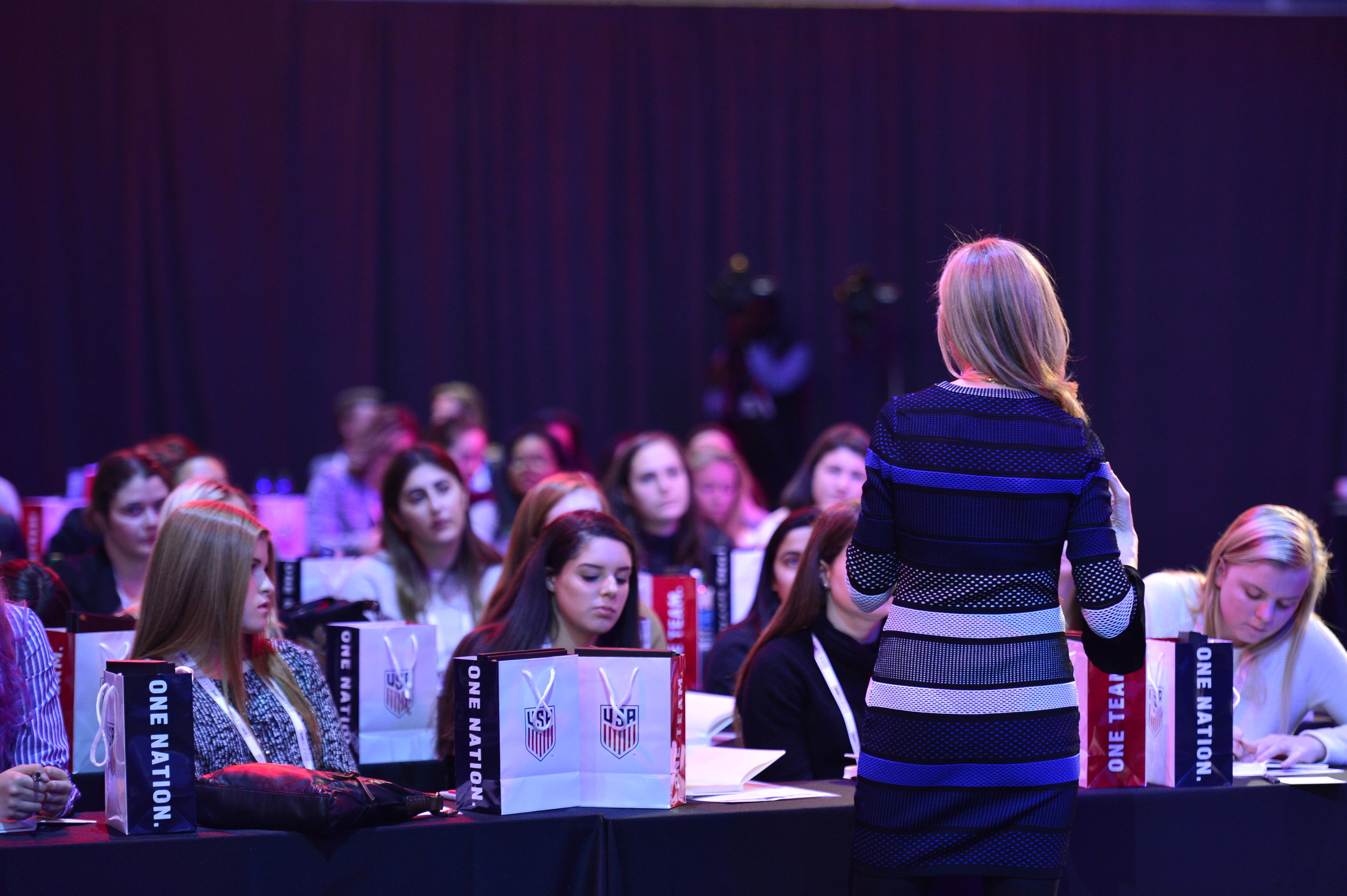 Marry Wittenberg speaks about mentorships and relationships during the SheBelieves in Her Abilities breakout session.