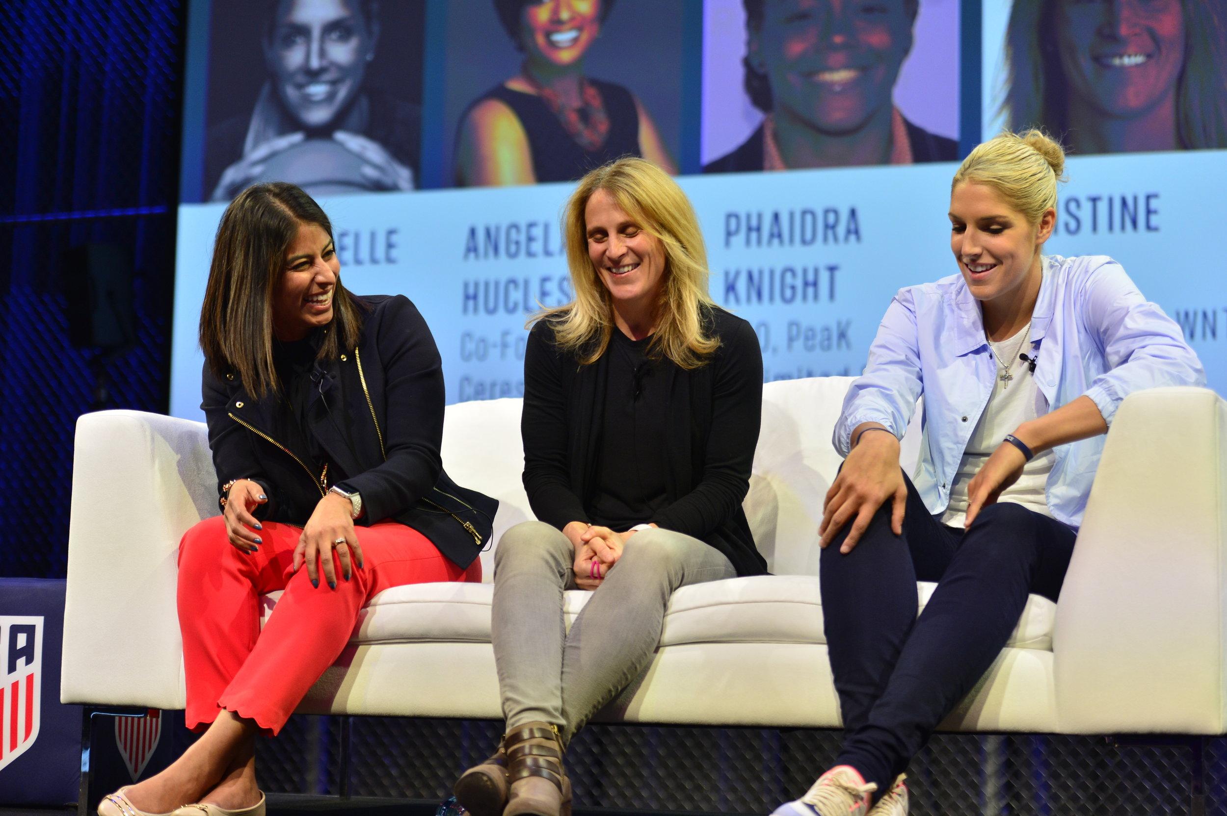 Christina Unkel, Kristine Lilly, Elena Della Donne