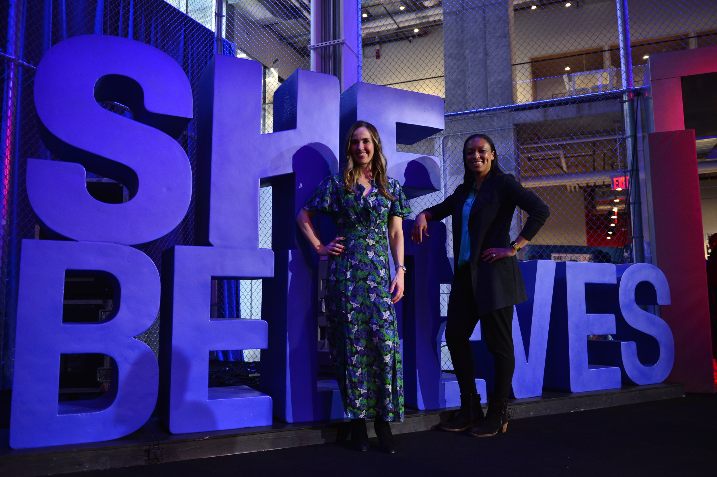 Heather Mitts and Angela Hucles, Co-Founders of Ceres Platinum Group and both former U.S. WNT players, exemplify the #SheBelieves ethos.
