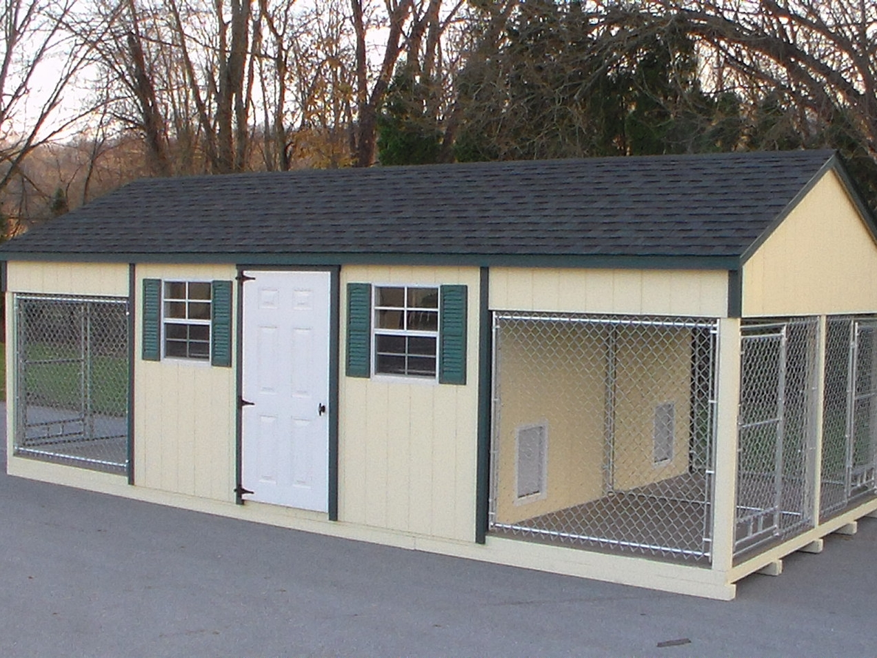 Quadplex Dog Kennel