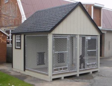10x10 Duplex Dog Kennel