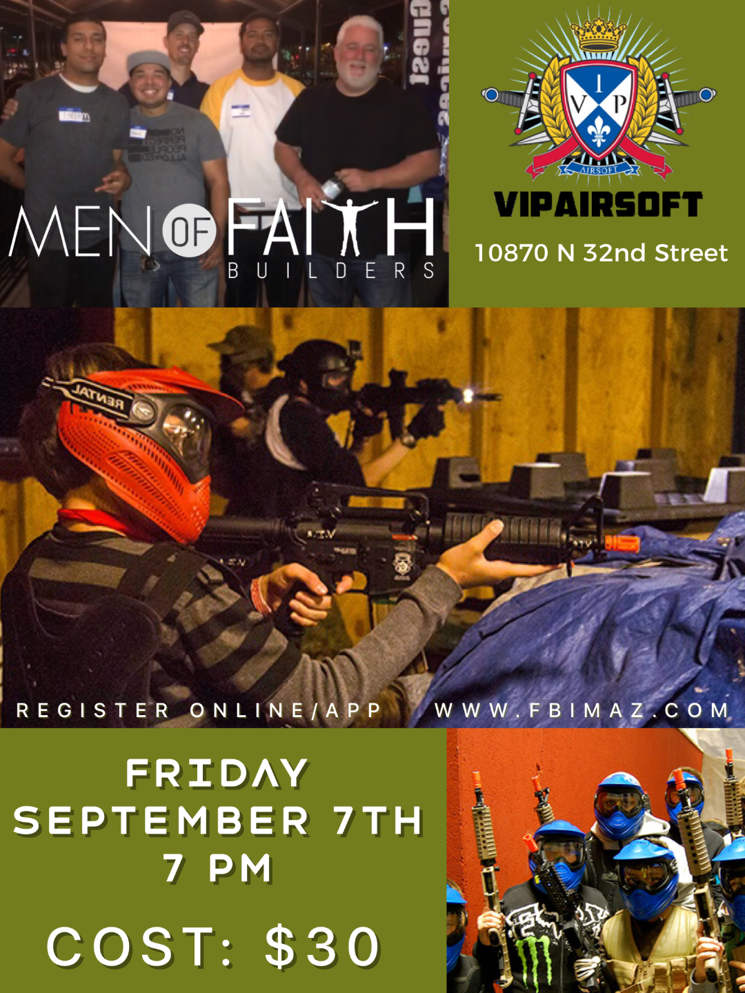 Men of Faith Builders Night Out - Friday, September 7th