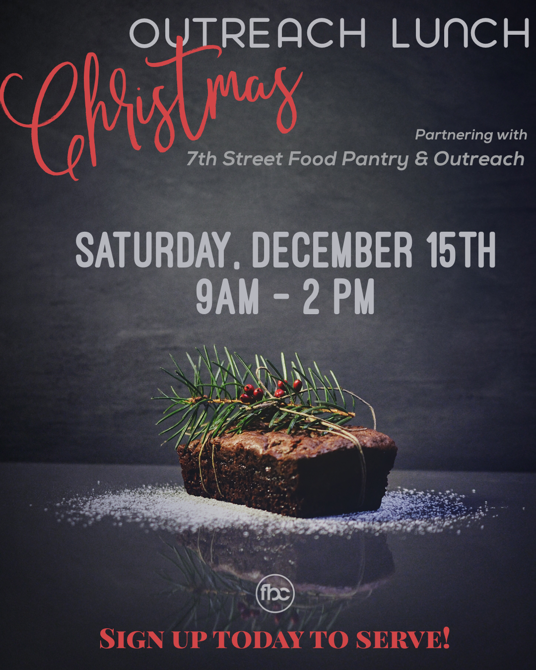 Christmas Outreach - Sunday, December 2nd 10:30 am Service
