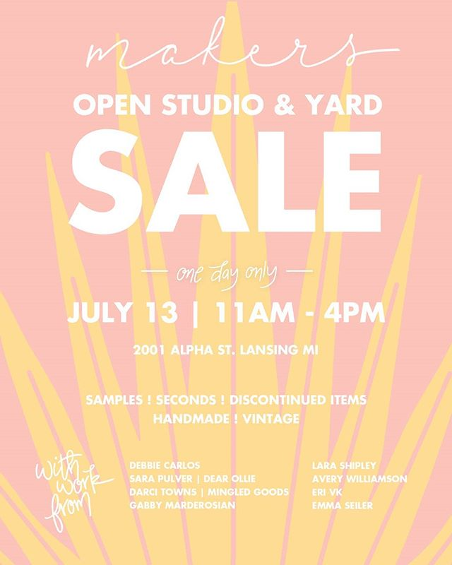 Locals!!! You should definitely swing by this. Along with all the other amazing makers, I will have wood pieces of course but also lots of pillow covers, tea towels, and other textile goodies from my block printing days. I want this stuff gone and the prices will reflect that 😂