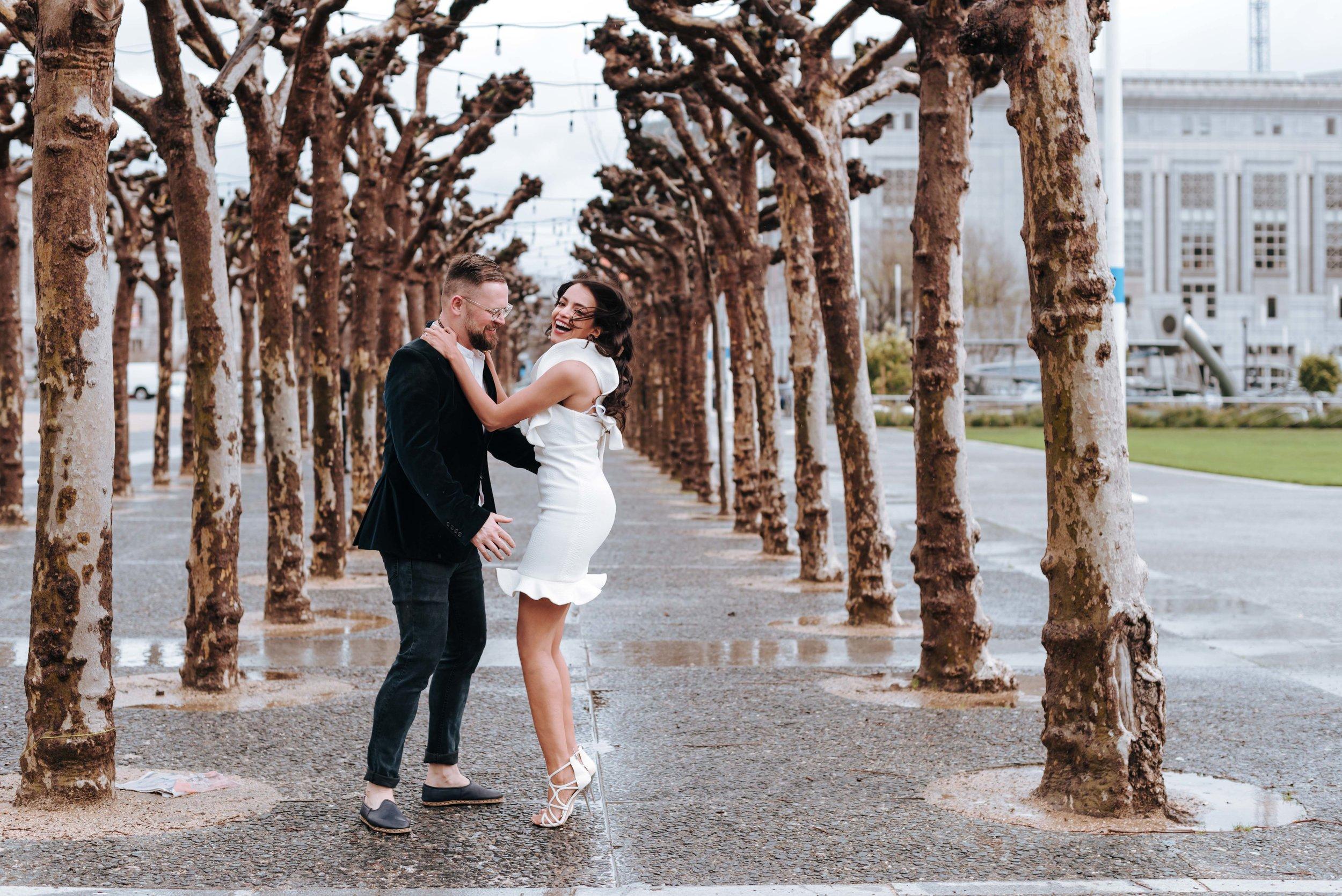 A rainy day elopement at San Francisco City Hall