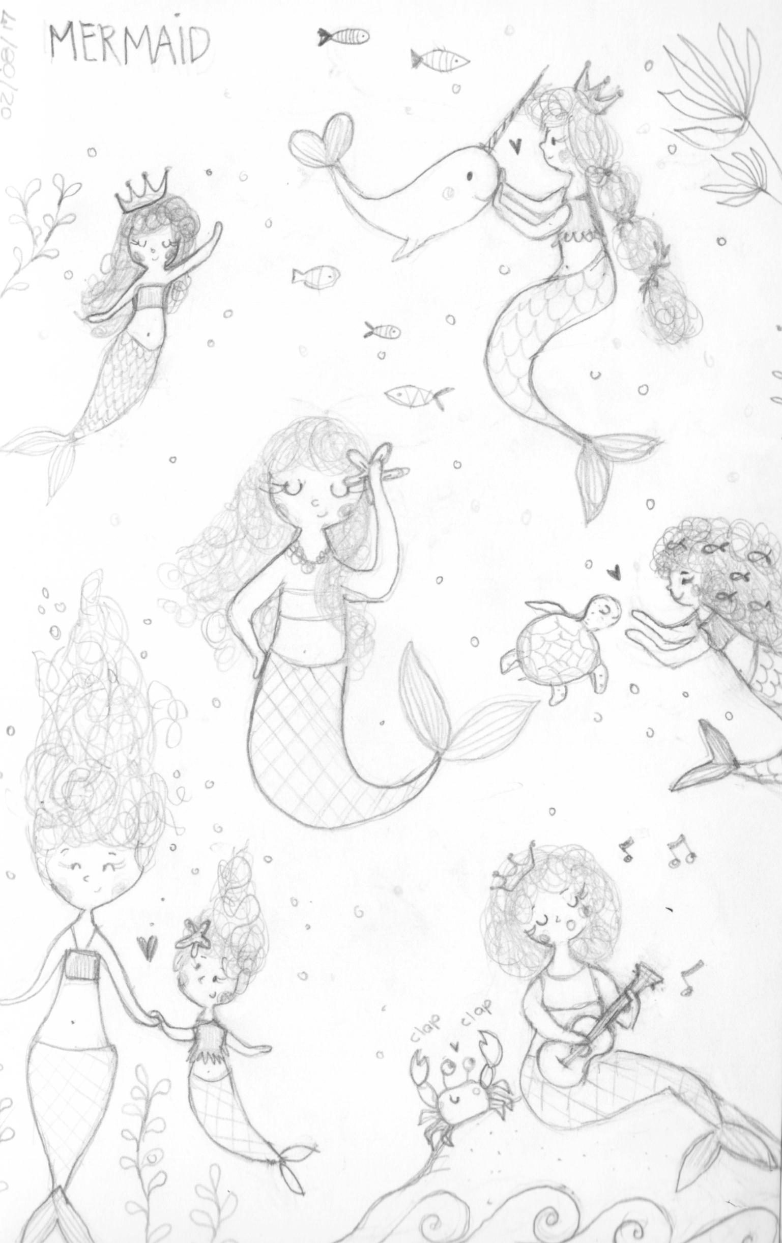 Mermaid sketch - from my sketchbook