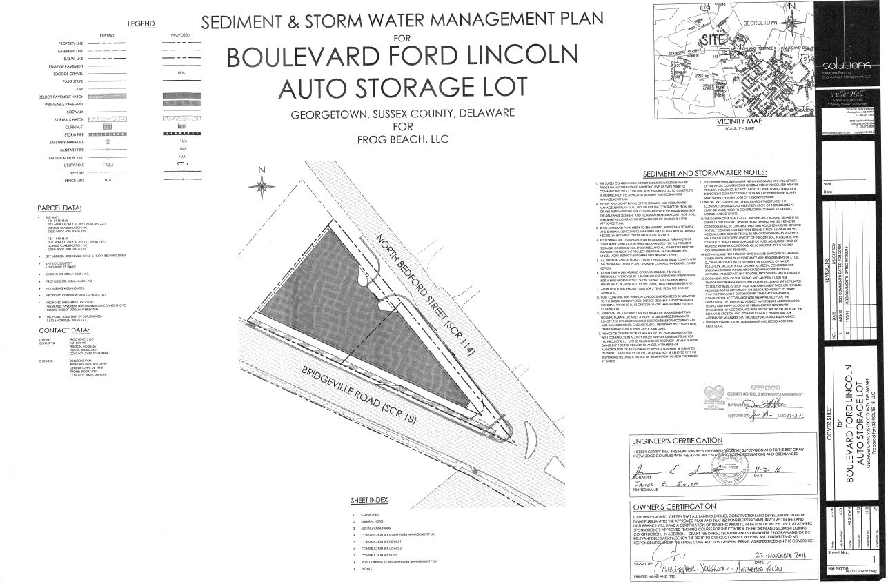 ford lincoln auto storage lot - Georgetown, Delaware