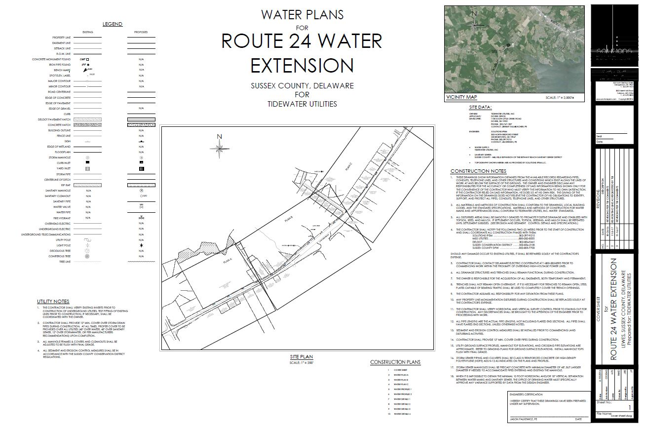 Route 24 water main extension - Sussex County, Delaware