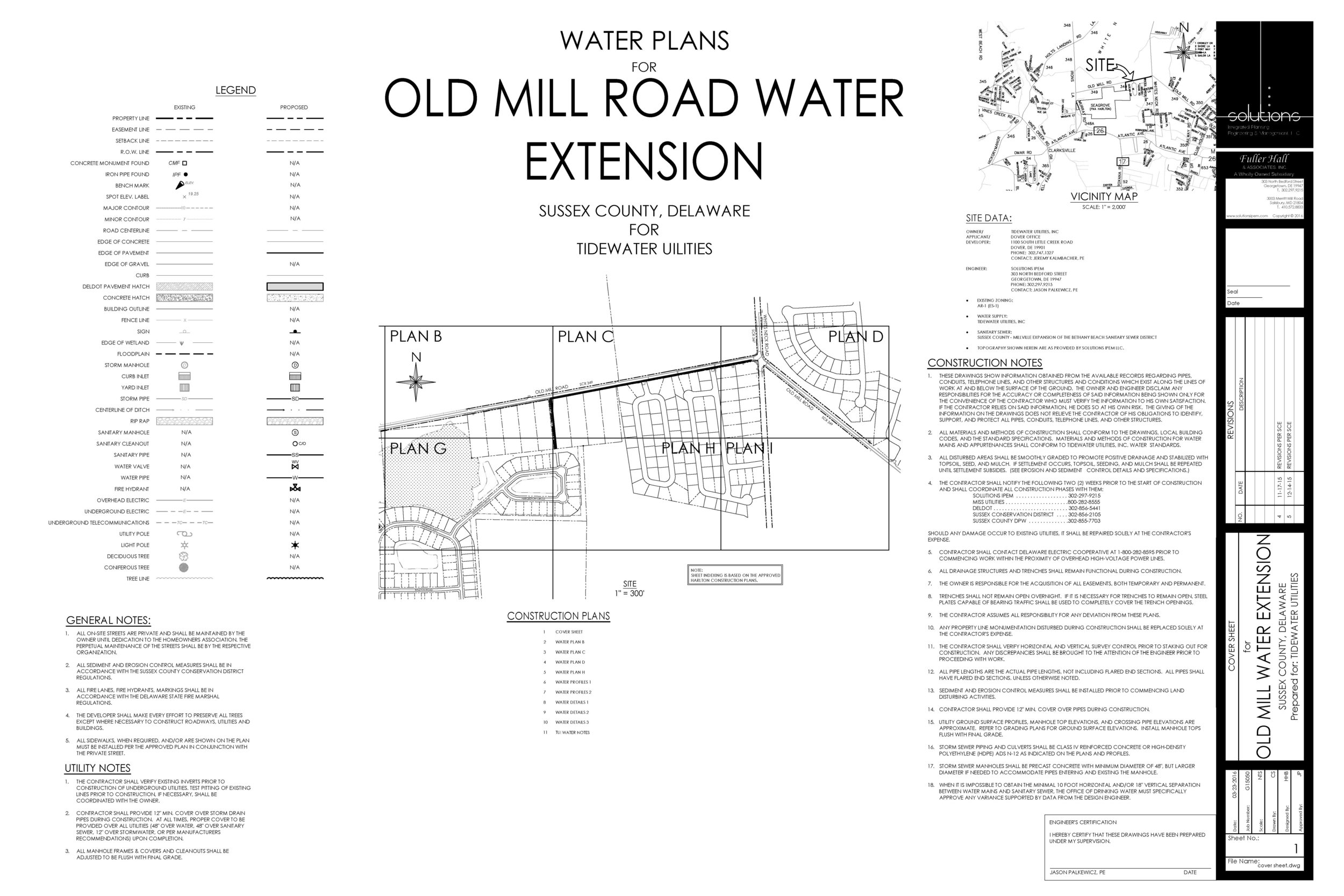 old mill road water main extension - Sussex County, Delaware