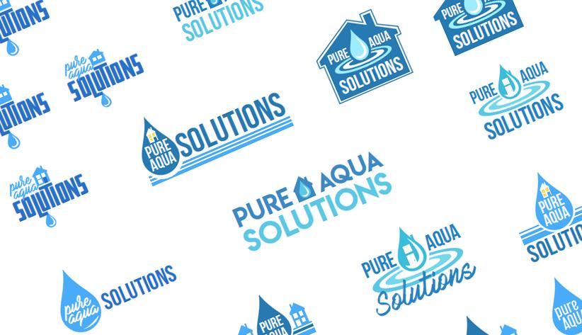 Pure Aqua Solutions Logo Development -
