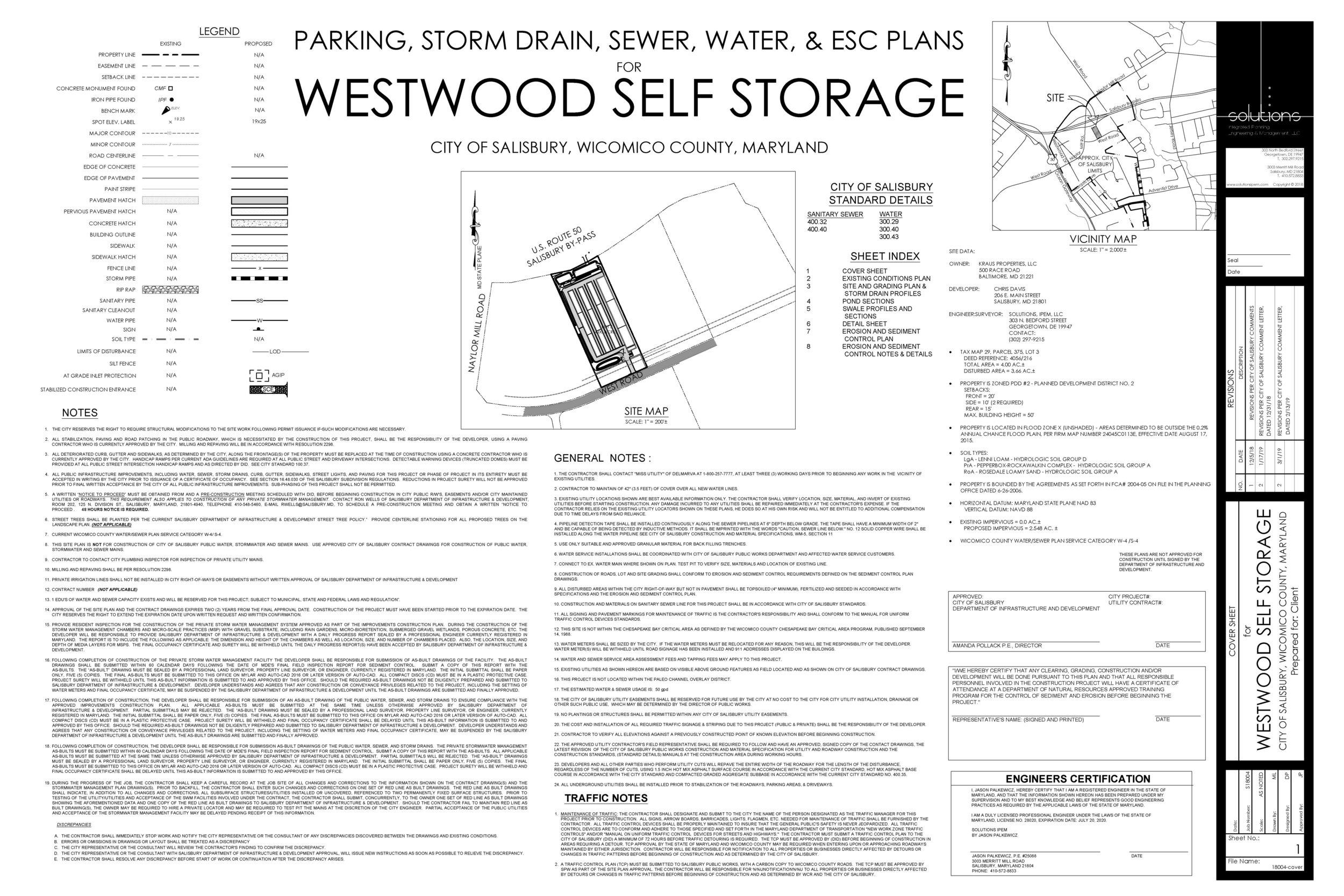 Westwood Self Storage - City of Salisbury, Maryland