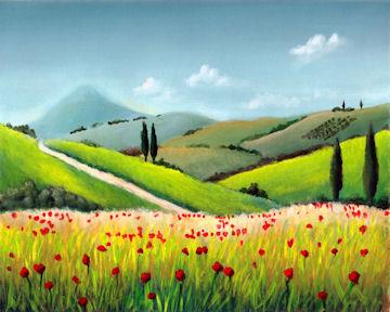 Tuscan Poppy Meadow