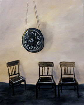 Houghton Mansion Clock & Chairs