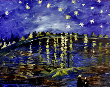 Starry Night over the Rhone - Van Gogh