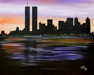 Twin Towers - NY City Skyline