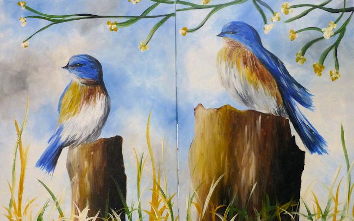Blue Birds - Partners Painting