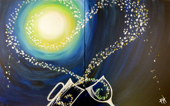 Pouring Hearts - Partners Painting
