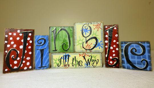 Jingle All the Way - decorative blocks