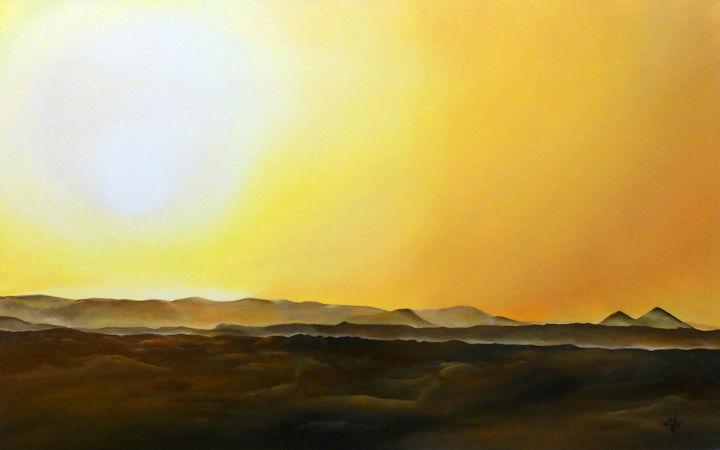 Sahara Desert - Merzouga, Morocco - 30x48 oil