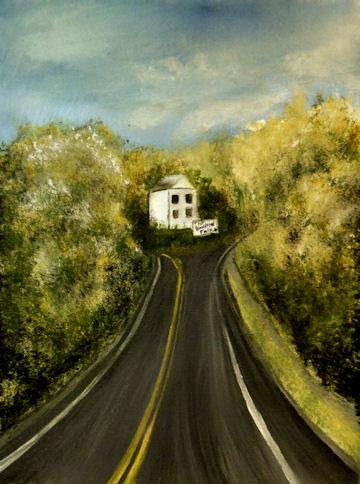 Road to Blandford Fair - 16x20 acrylic