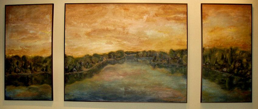 Lake Congamond - acrylic triptych