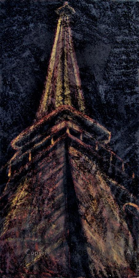 Eiffel Tower - mixed media