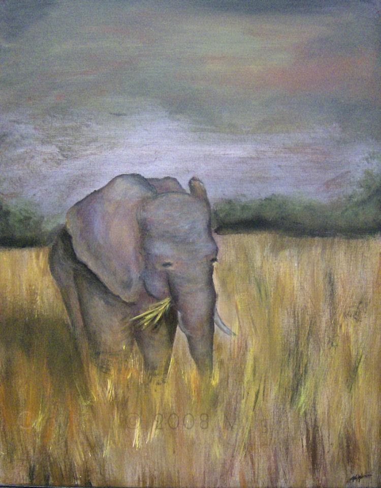Elephant in Meadow