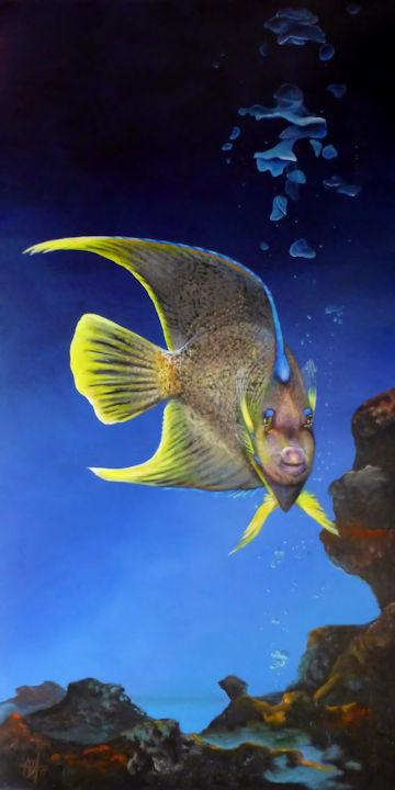 Queen Angelfish - 24x48 acrylic