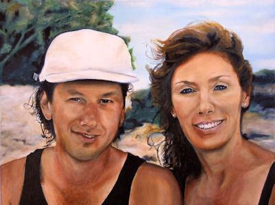 Cathy & Corry - 18x24 oil