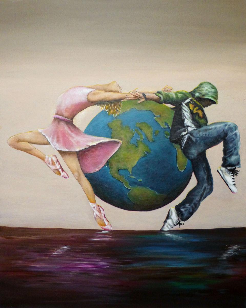 Earth Moves - 16x20 acrylic