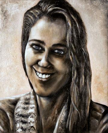 Laura - 11x14 acrylic