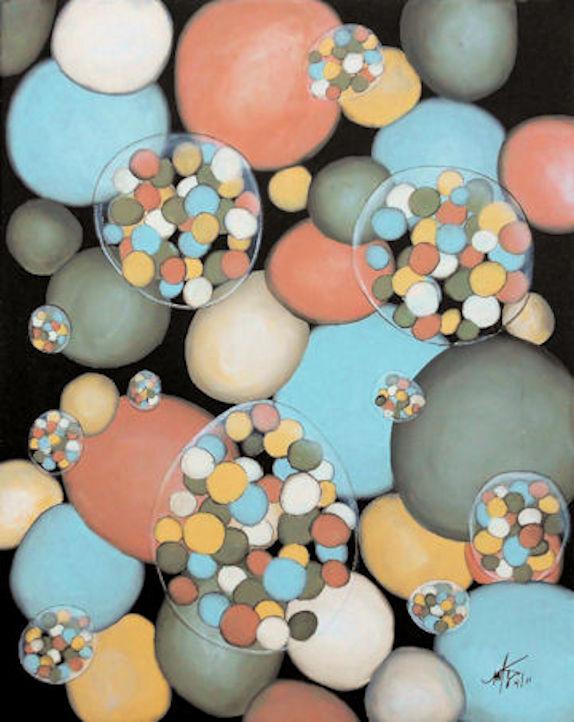Bubbles #1 - 16x20 oil