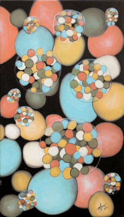 Bubbles #2 - 13x22 oil