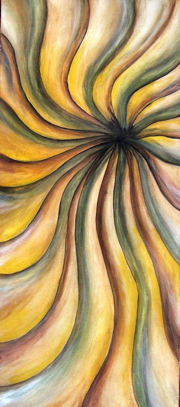 Red & Yellow Swirl - acrylic