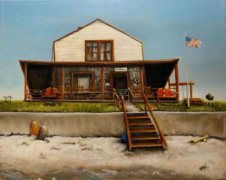 Kimball Cottage, Maine - 16x20 acrylic
